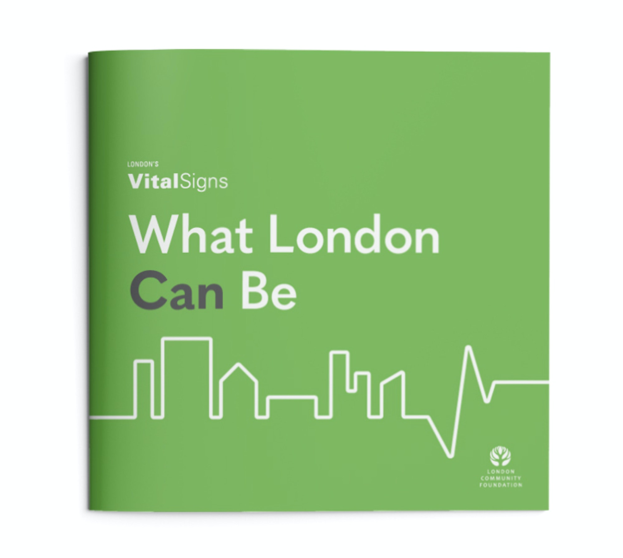The front cover of the London Community Foundation's 2018 Vital Signs report