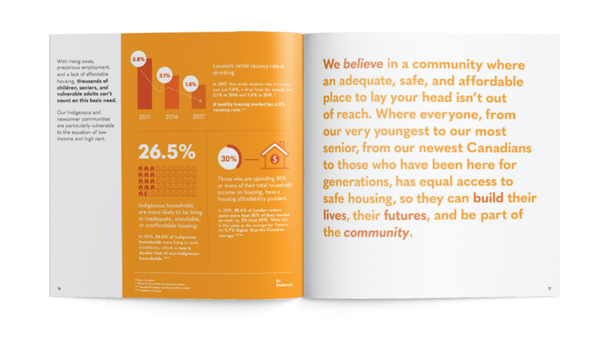 Some of the pages in the LCF's 2018 Vital Signs Report
