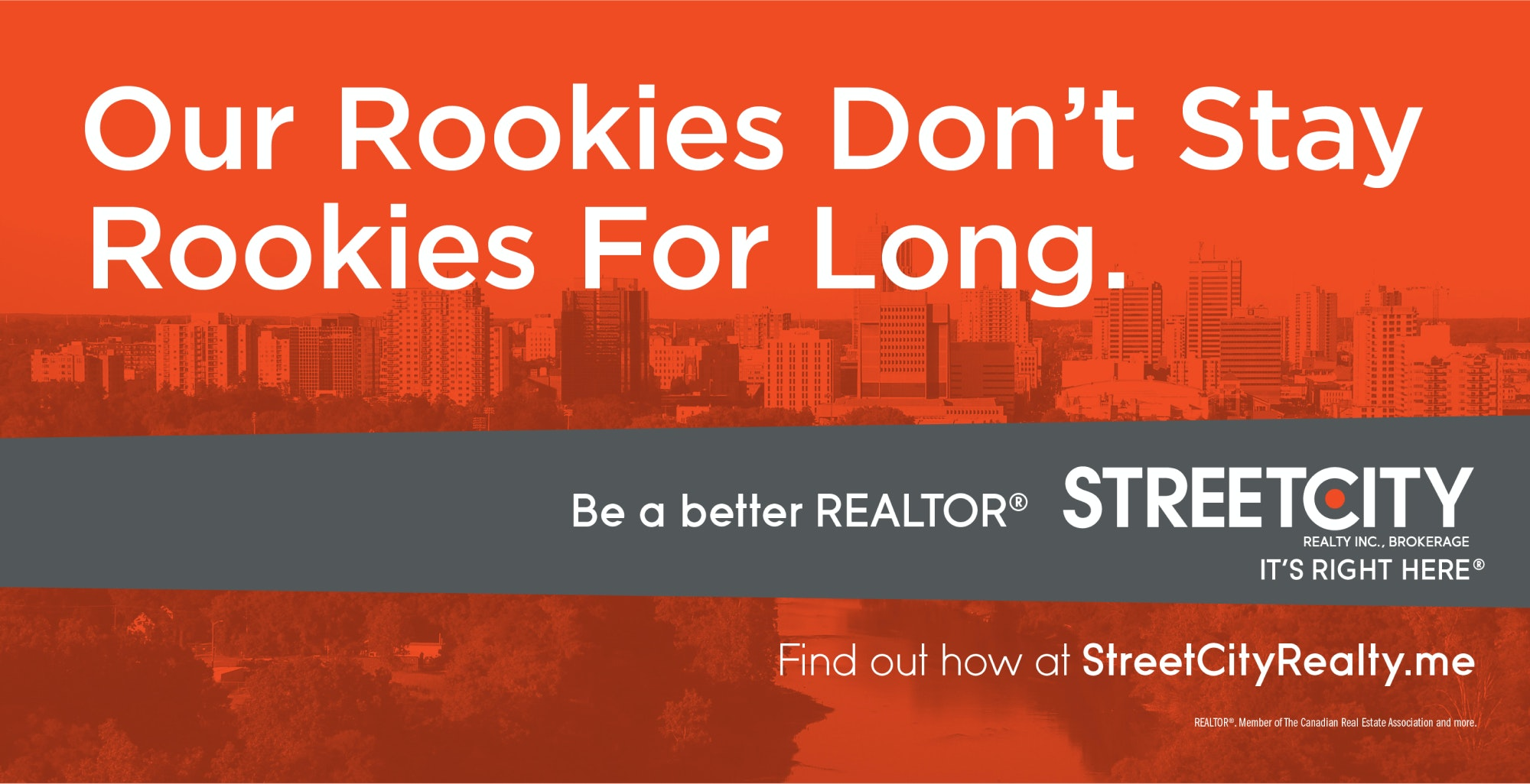 Billboard ad that states 'Our Rookies Don't Stay Rookies for Long'
