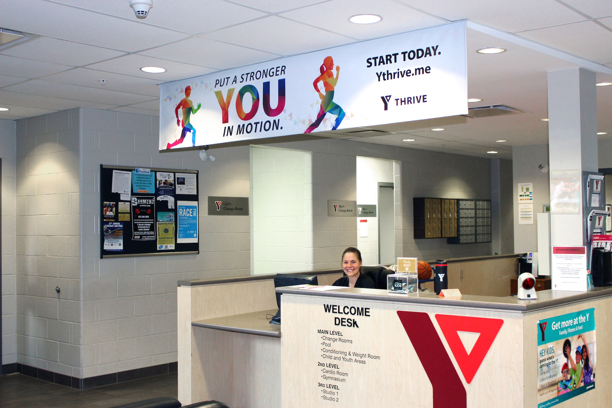 YThrive signage on display at the Y