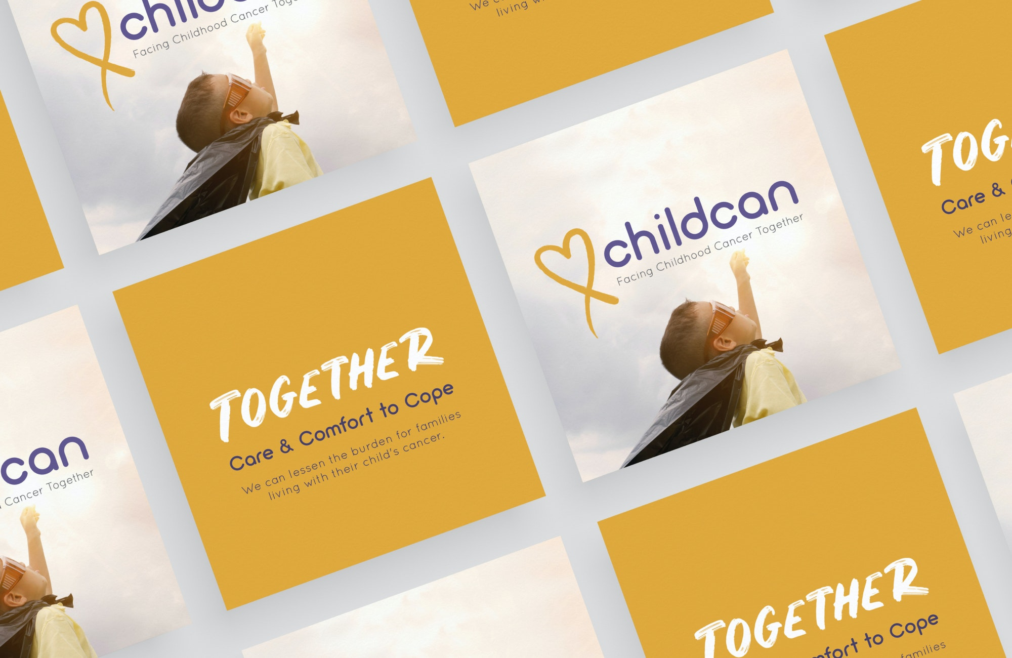 Childcan postcard and tagline