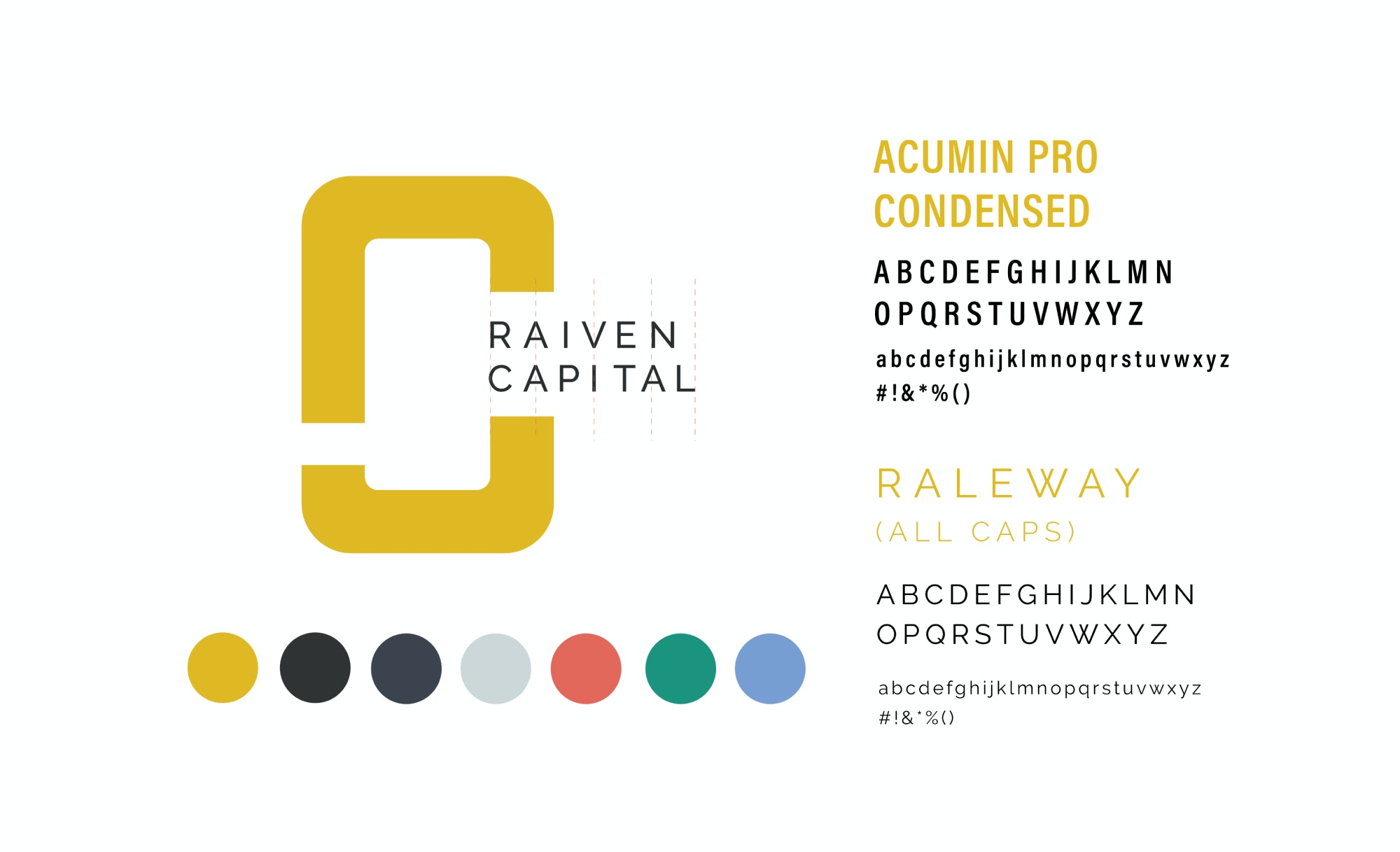 Raiven font and colour guidelines