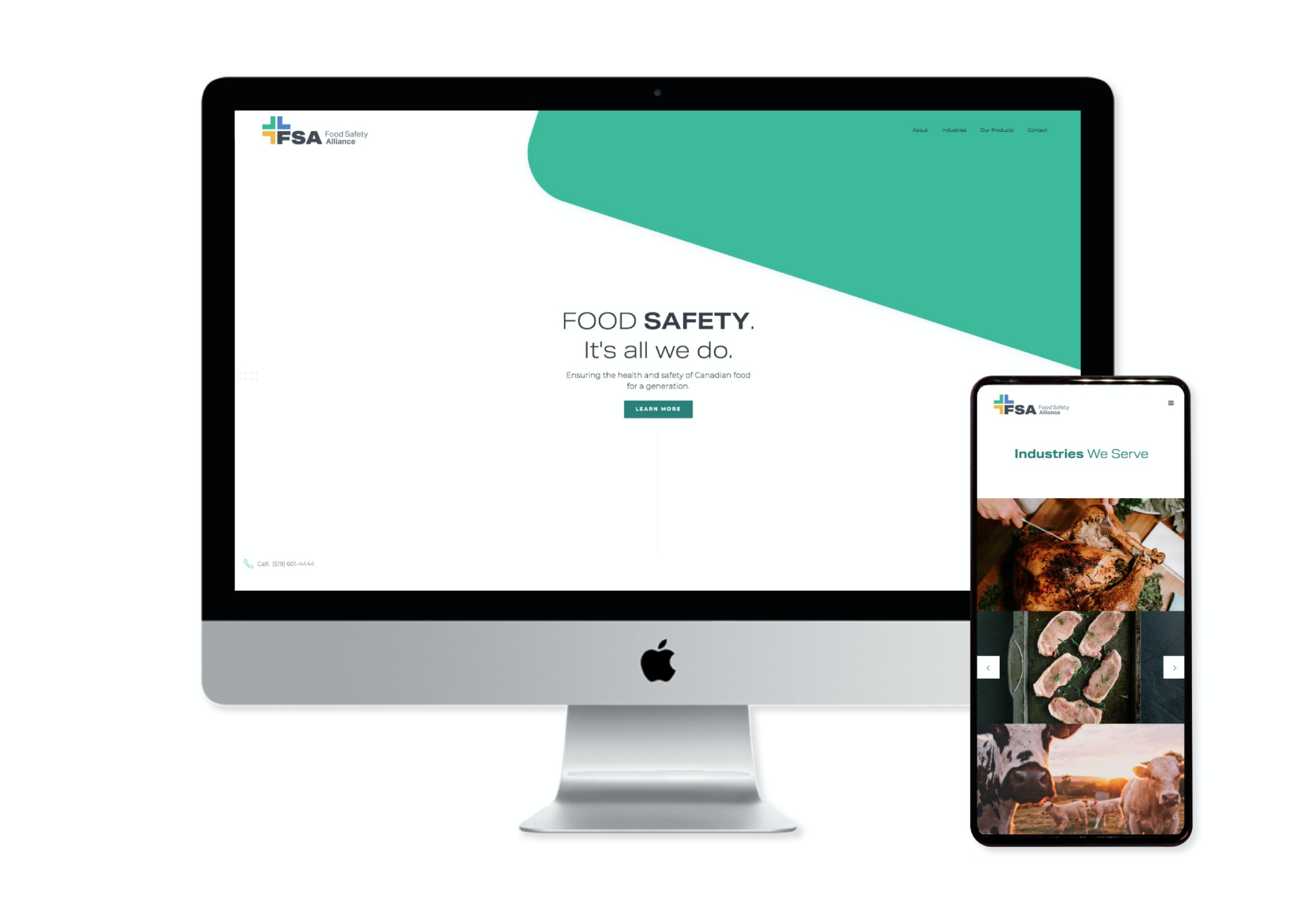 FSA website on multiple screen sizes