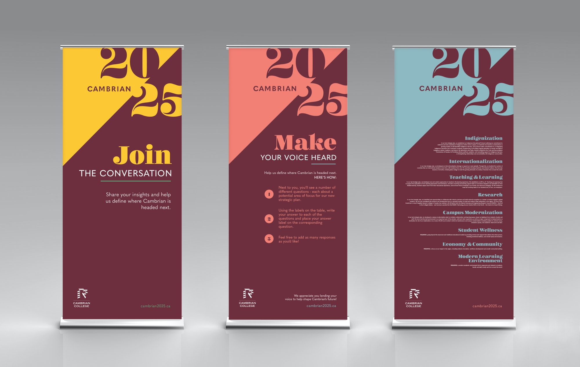 Engagement plan rollup stand posters