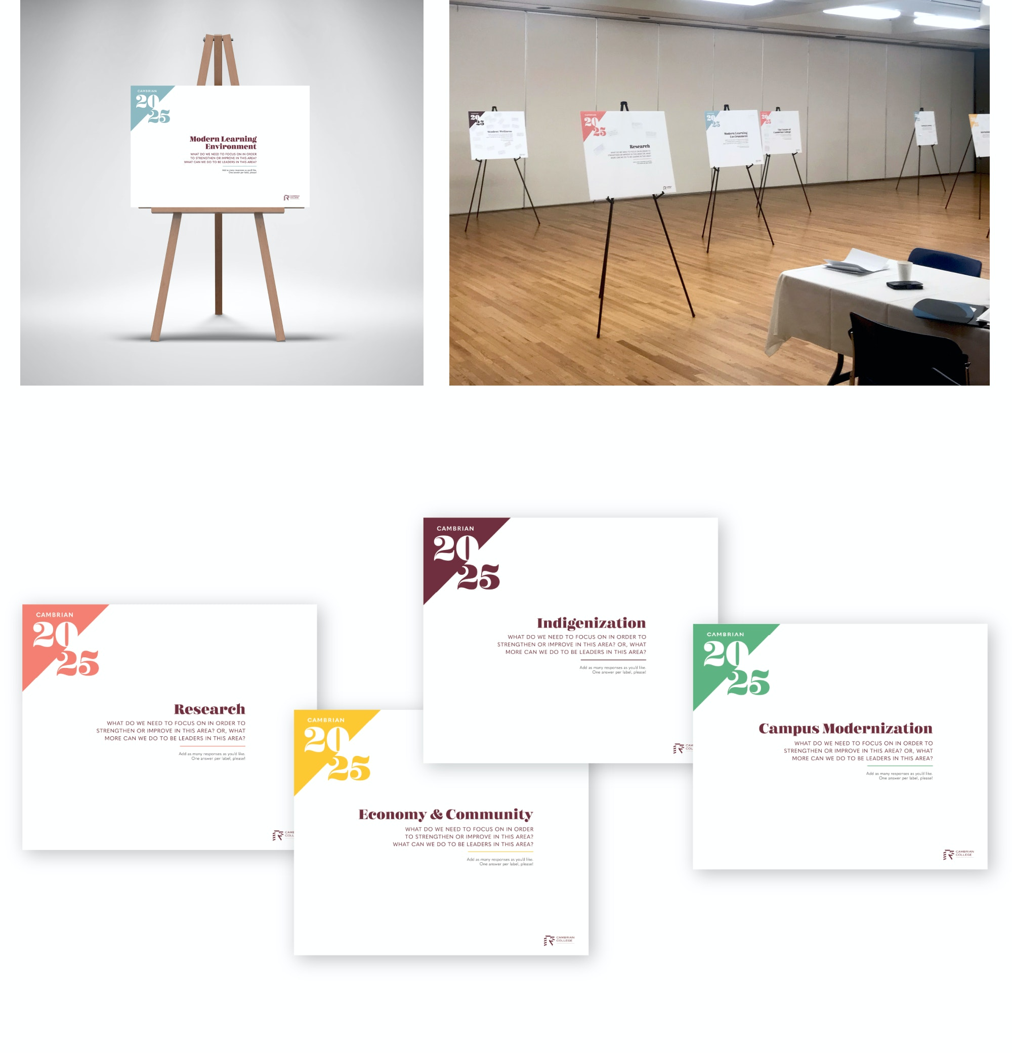 Cambrian strat plan engagement poster boards