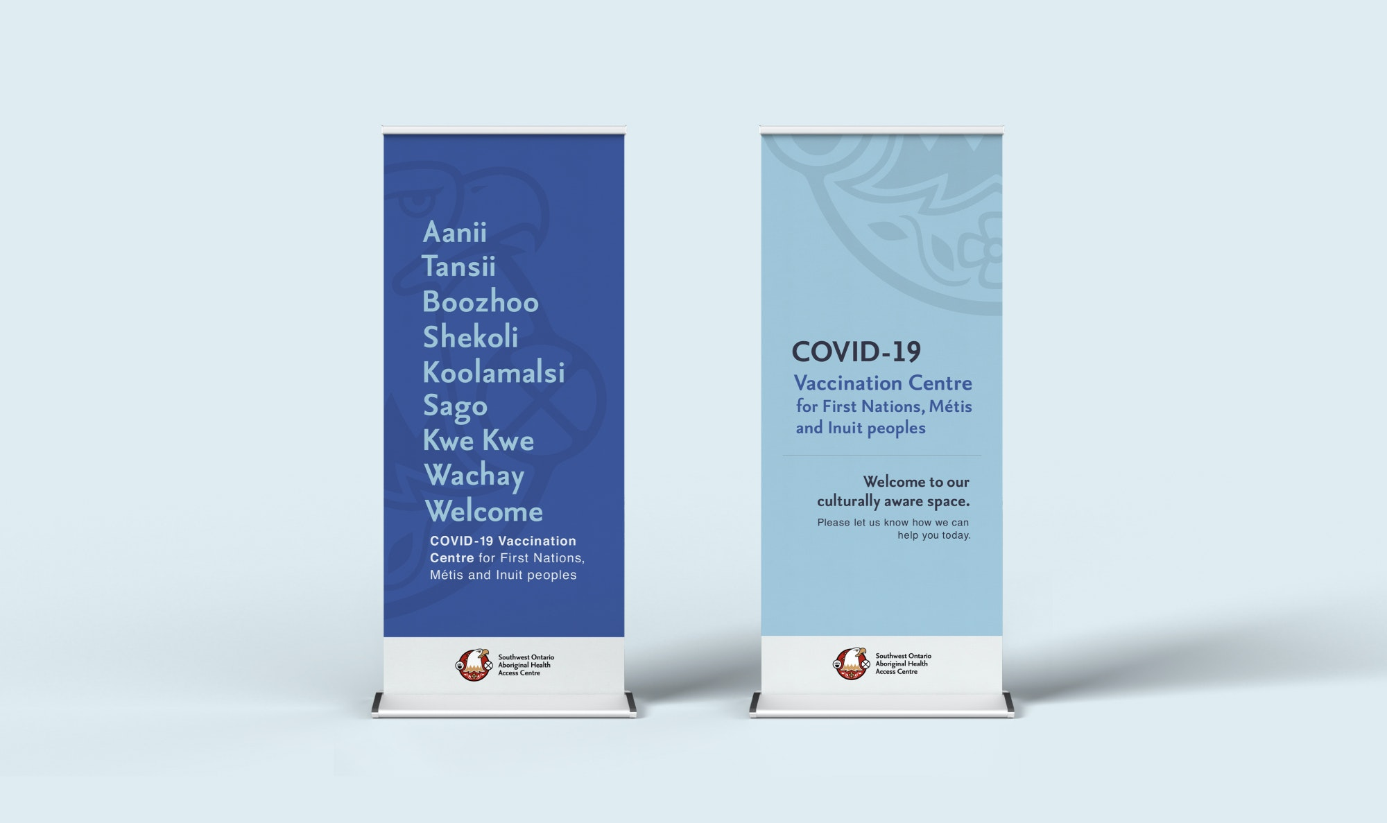 vaccination clinic stand-up banners