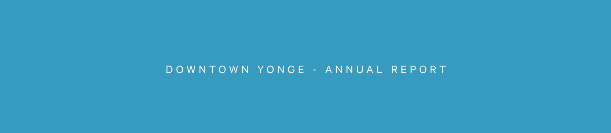 Downtown Yonge - Annual Report