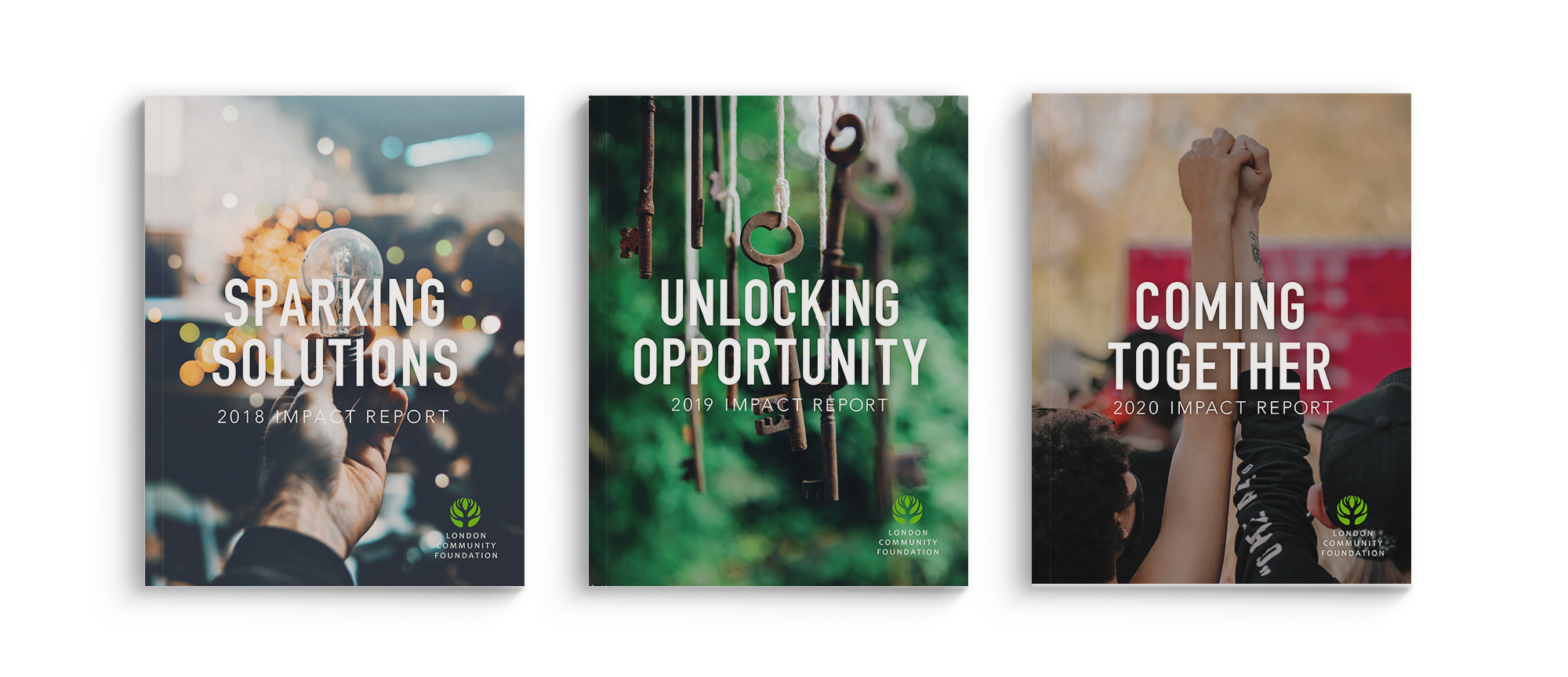 covers of three LCF impact reports