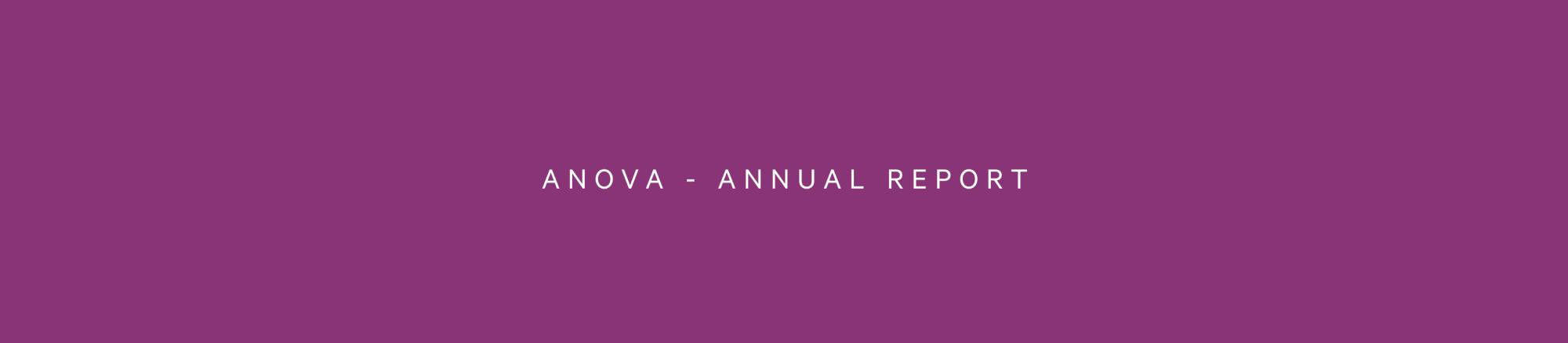 Anova - Annual Report Banner