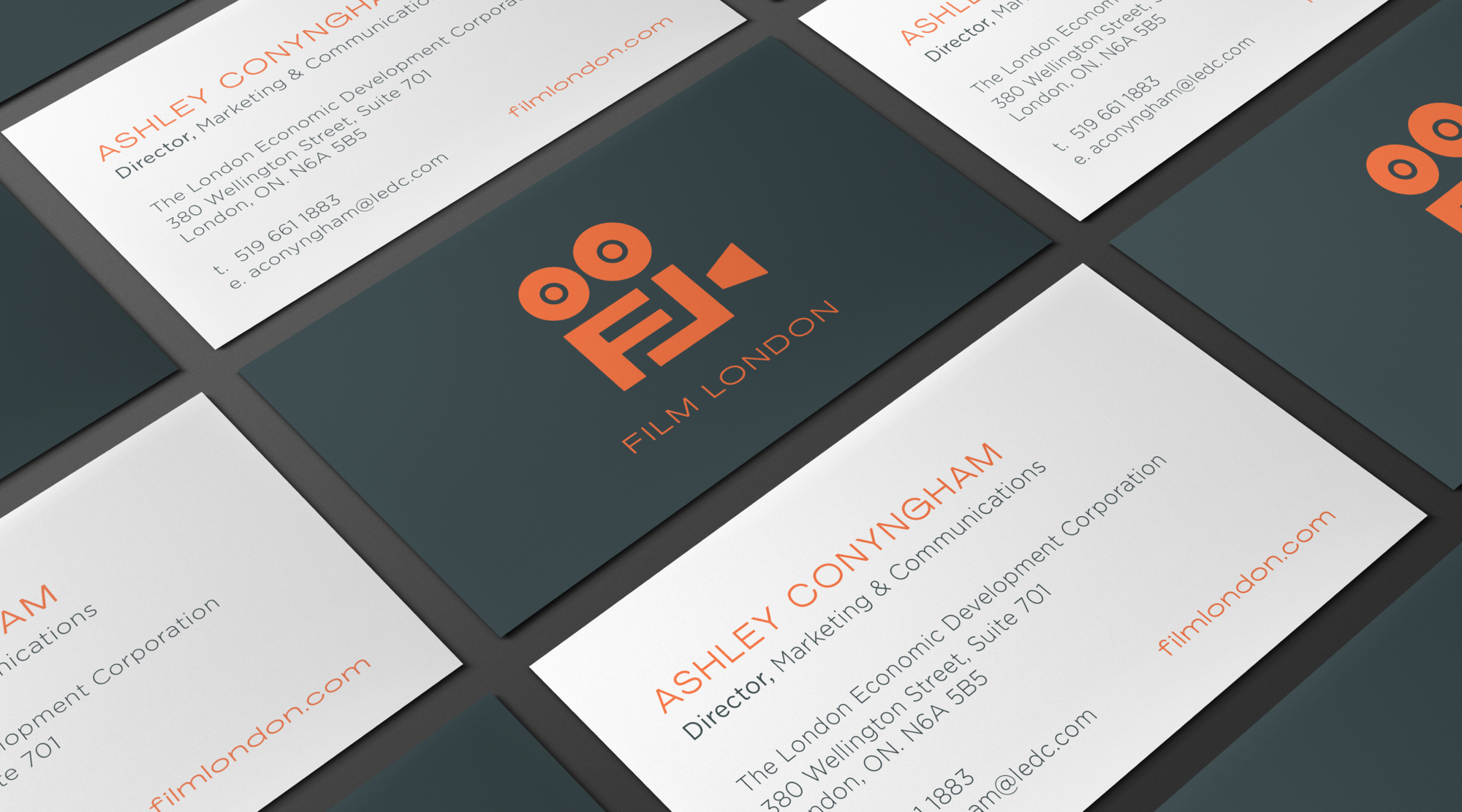 Film London business cards