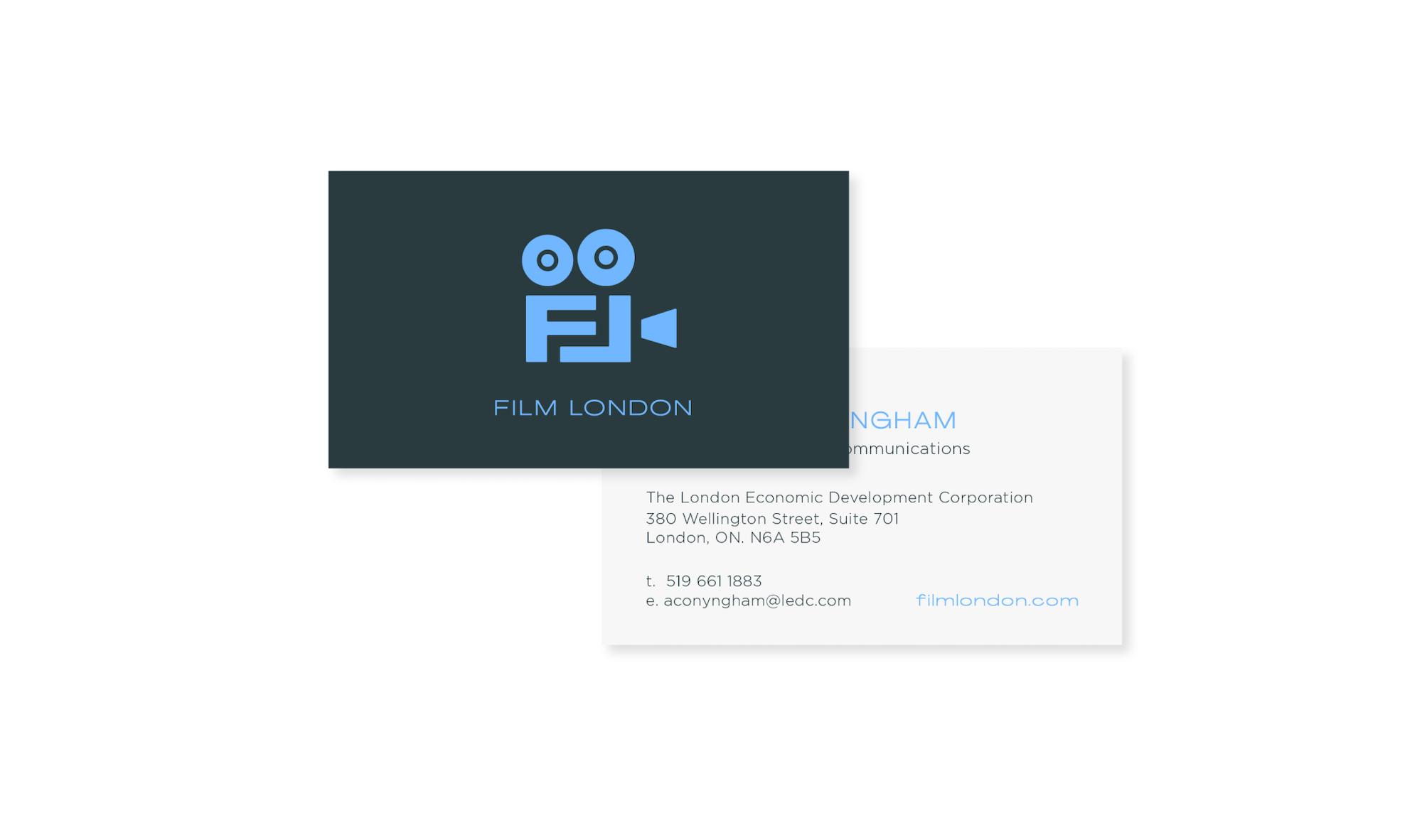 Film London business card
