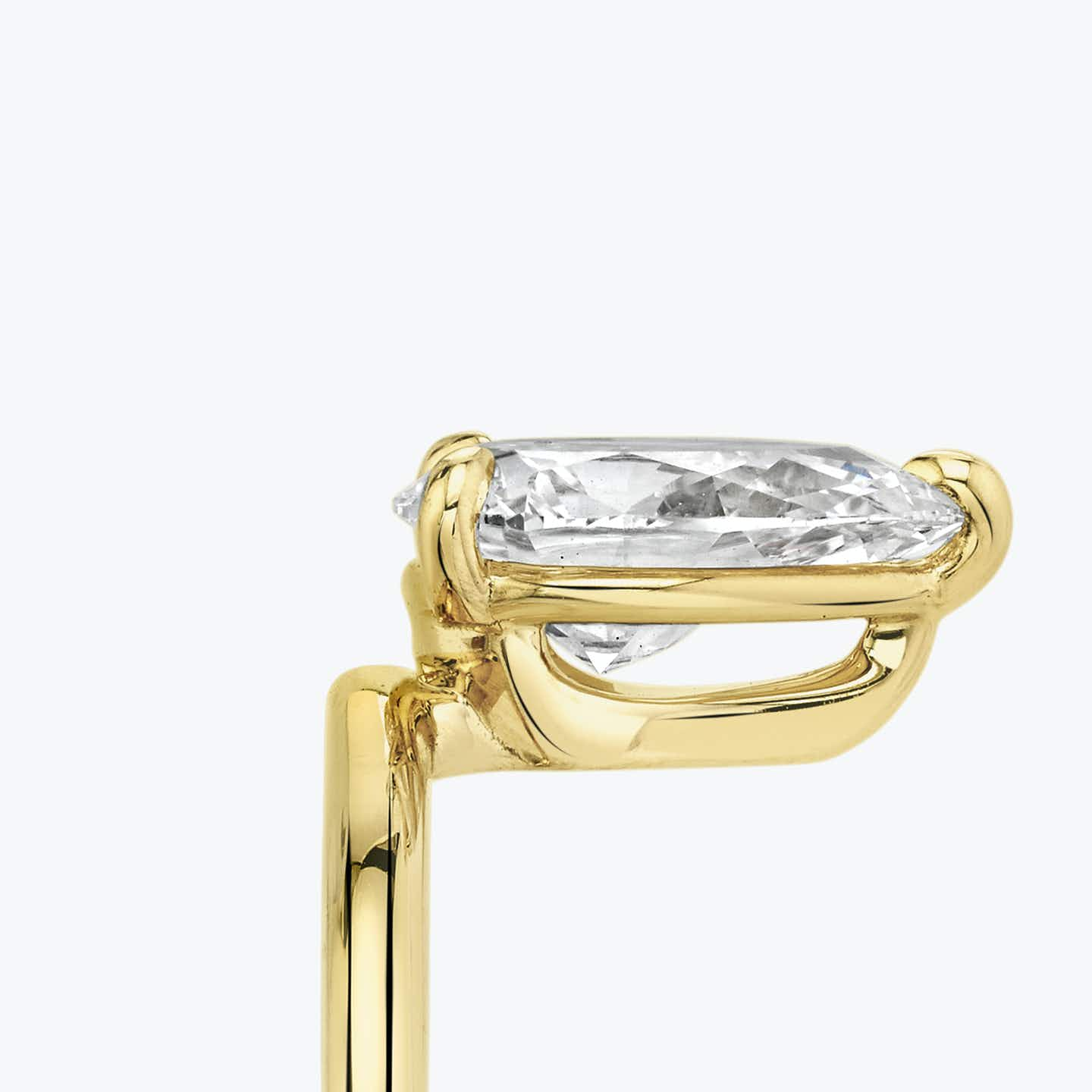 Closeup image of Hover Engagement Ring