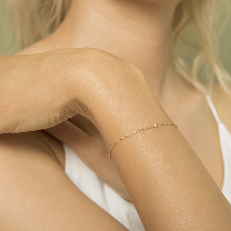 Closeup image of Tiny Diamond Bracelet