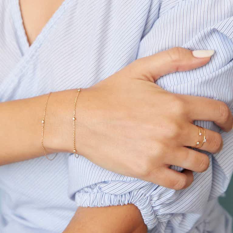 Closeup image of Tiny Station Bracelet