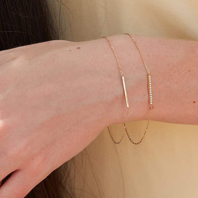 Closeup image of Pave Line Bracelet