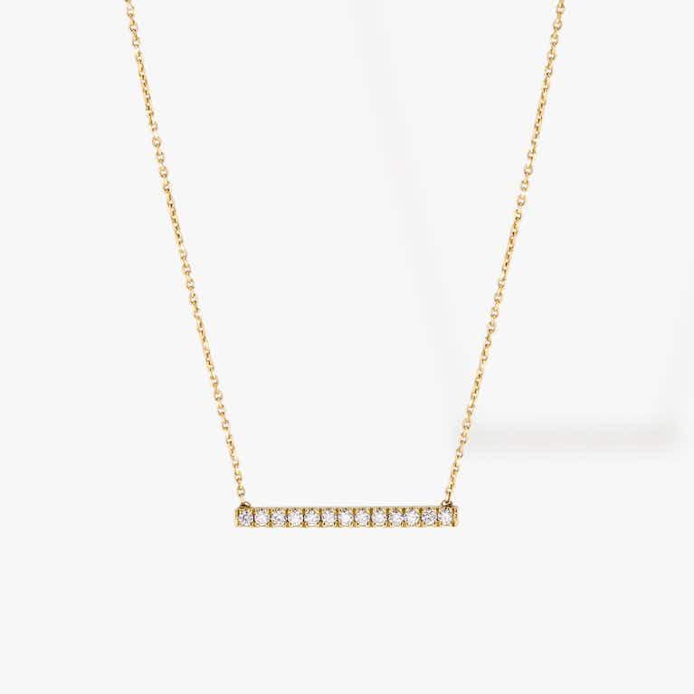 Closeup image of Pave Line Necklace