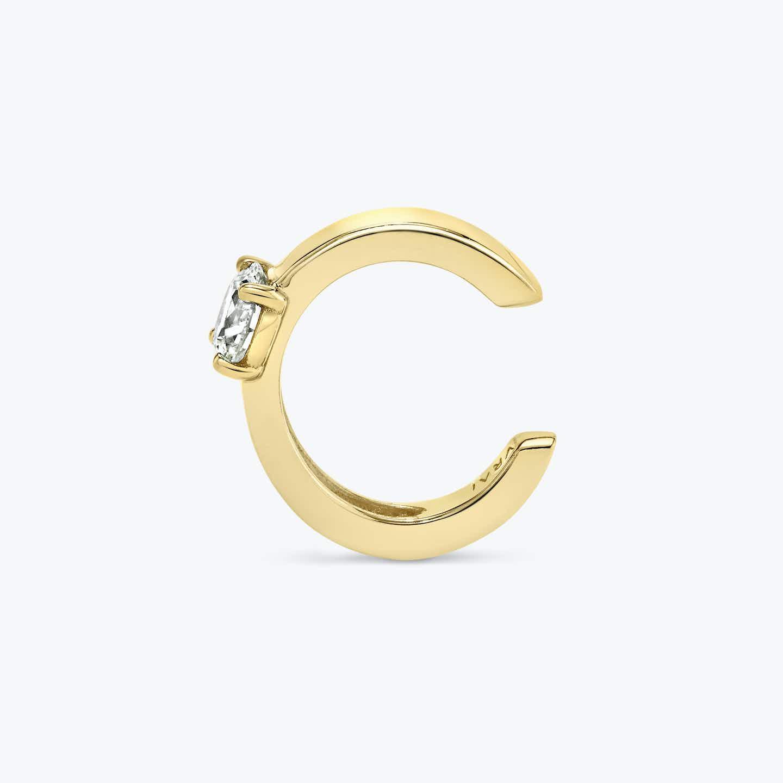Closeup image of Round Brilliant Diamond Ear Cuff