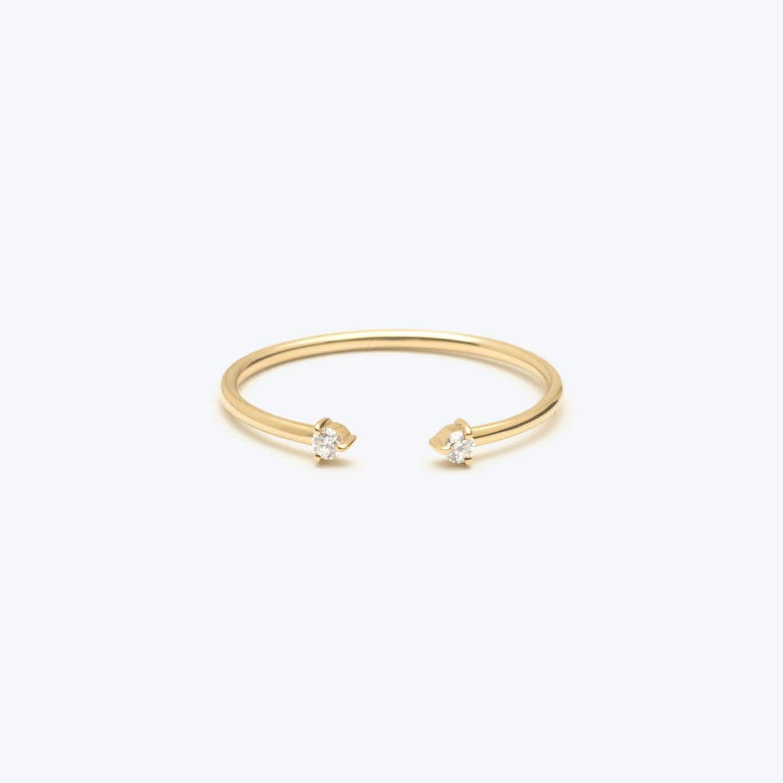 Closeup image of Tiny Diamond Cuff Ring