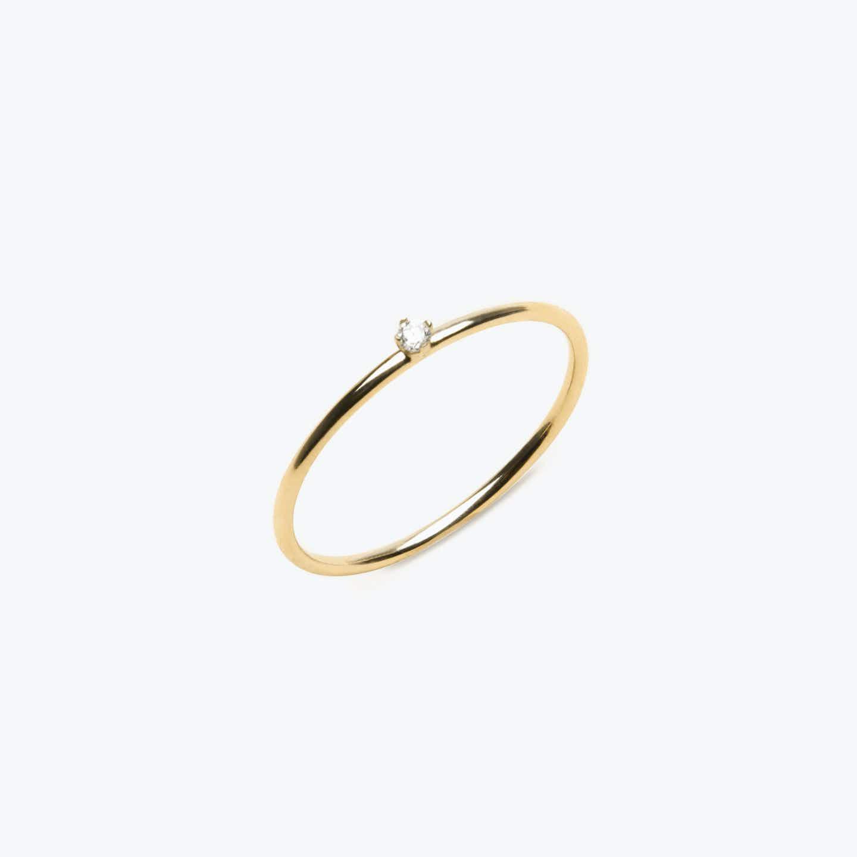 Closeup image of Tiny Diamond Ring