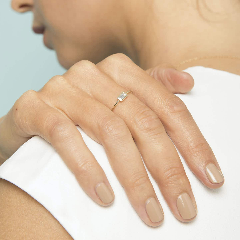 Closeup image of Diamond Bezel Ring