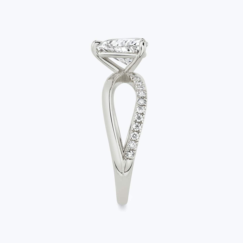 Closeup image of Twist Engagement Ring