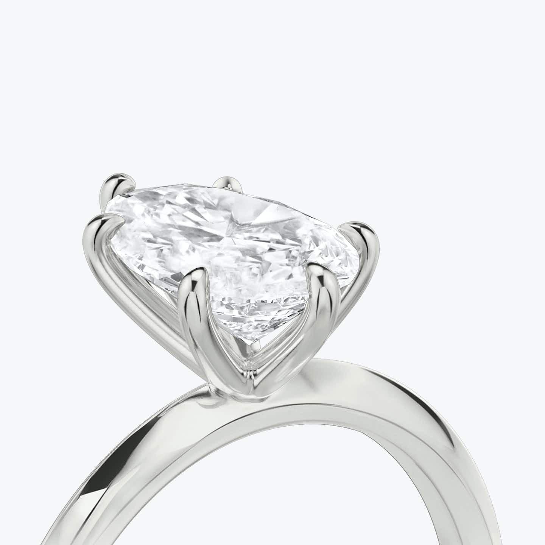 Closeup image of Knife Edge Engagement Ring
