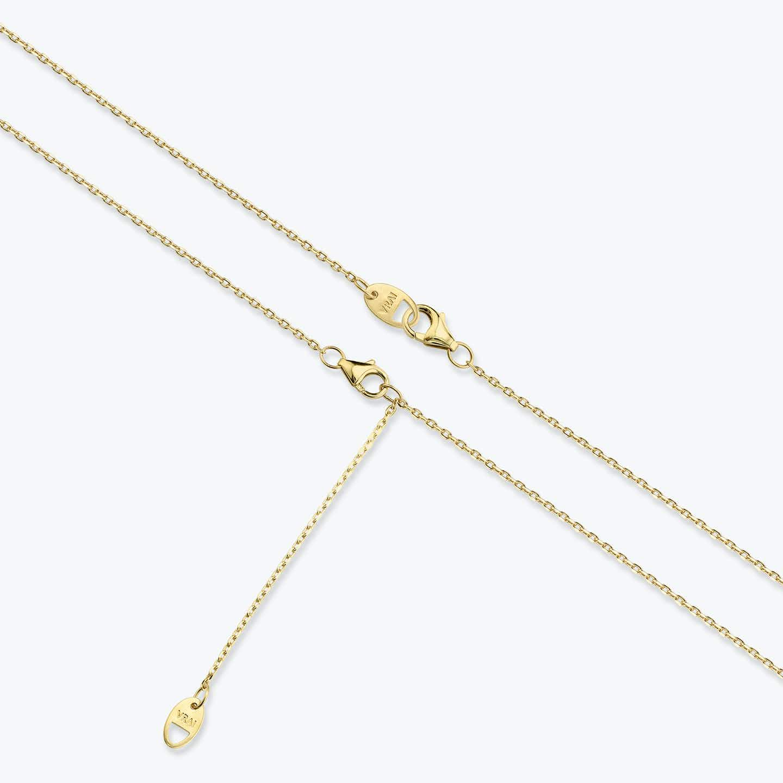 Closeup image of Solitaire Diamond Necklace