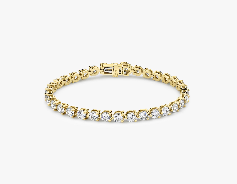 Round Diamond Tennis Bracelet Large Sustainably Created Diamond