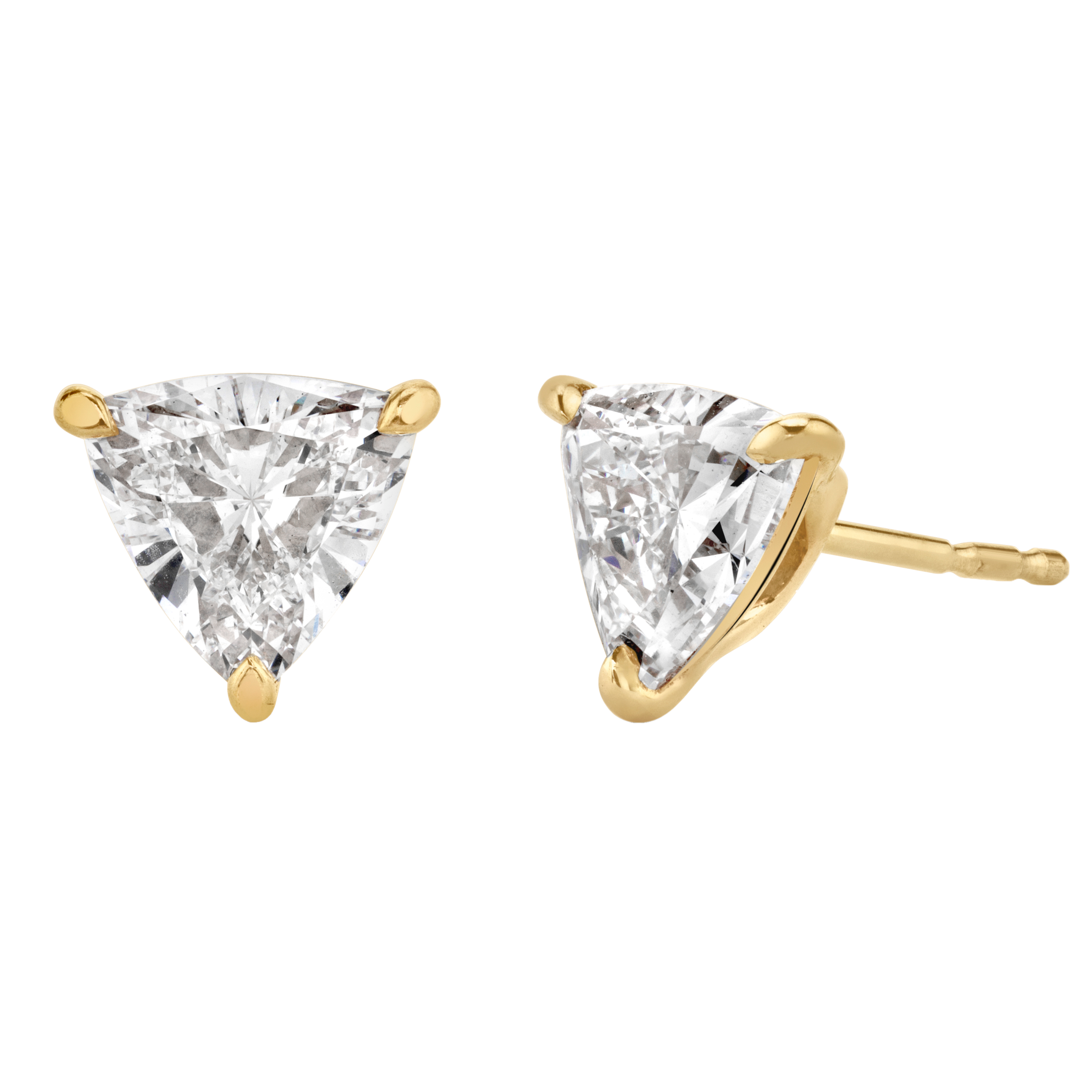 Solitaire Trillion Diamond Studs