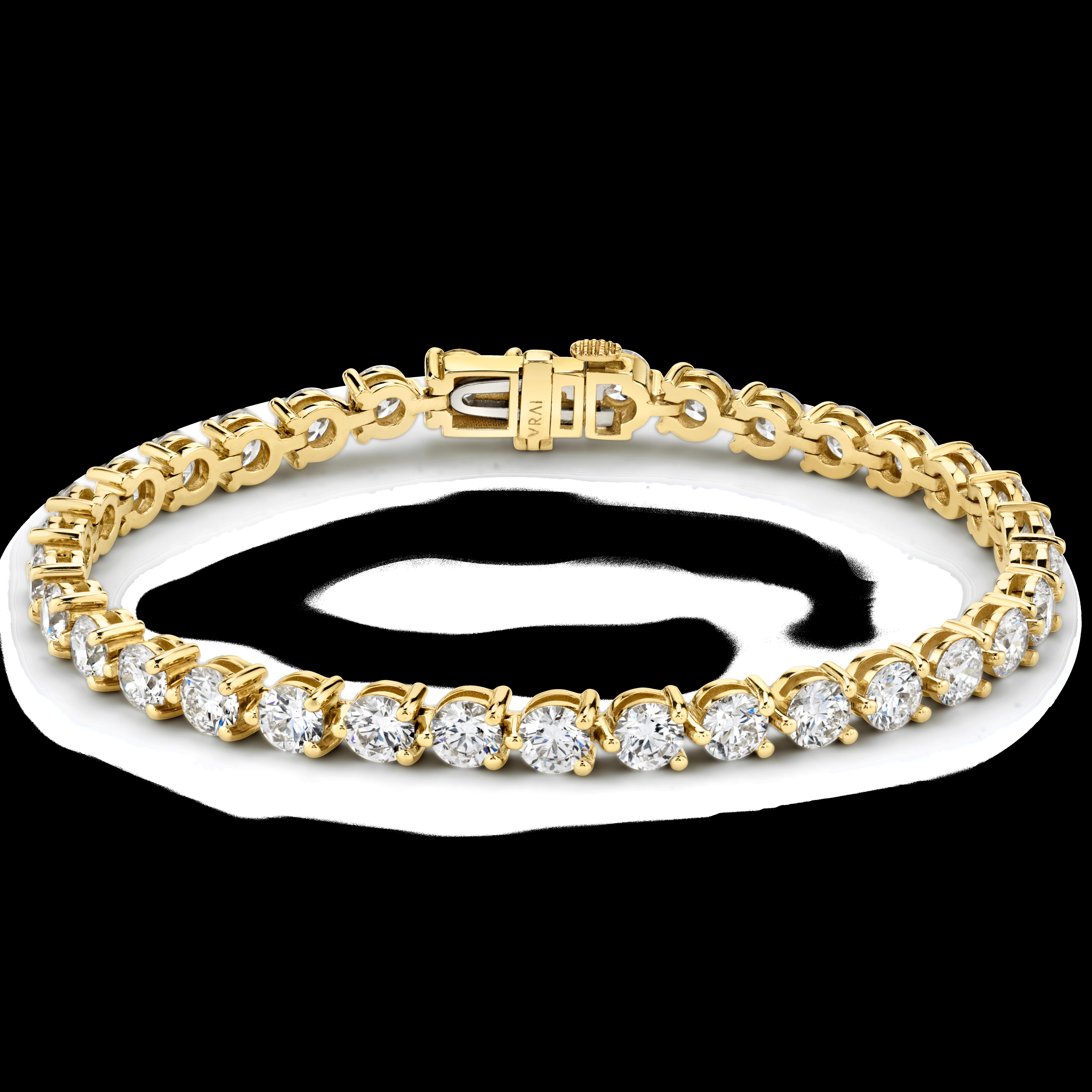 Round Tennis Bracelet - Petite