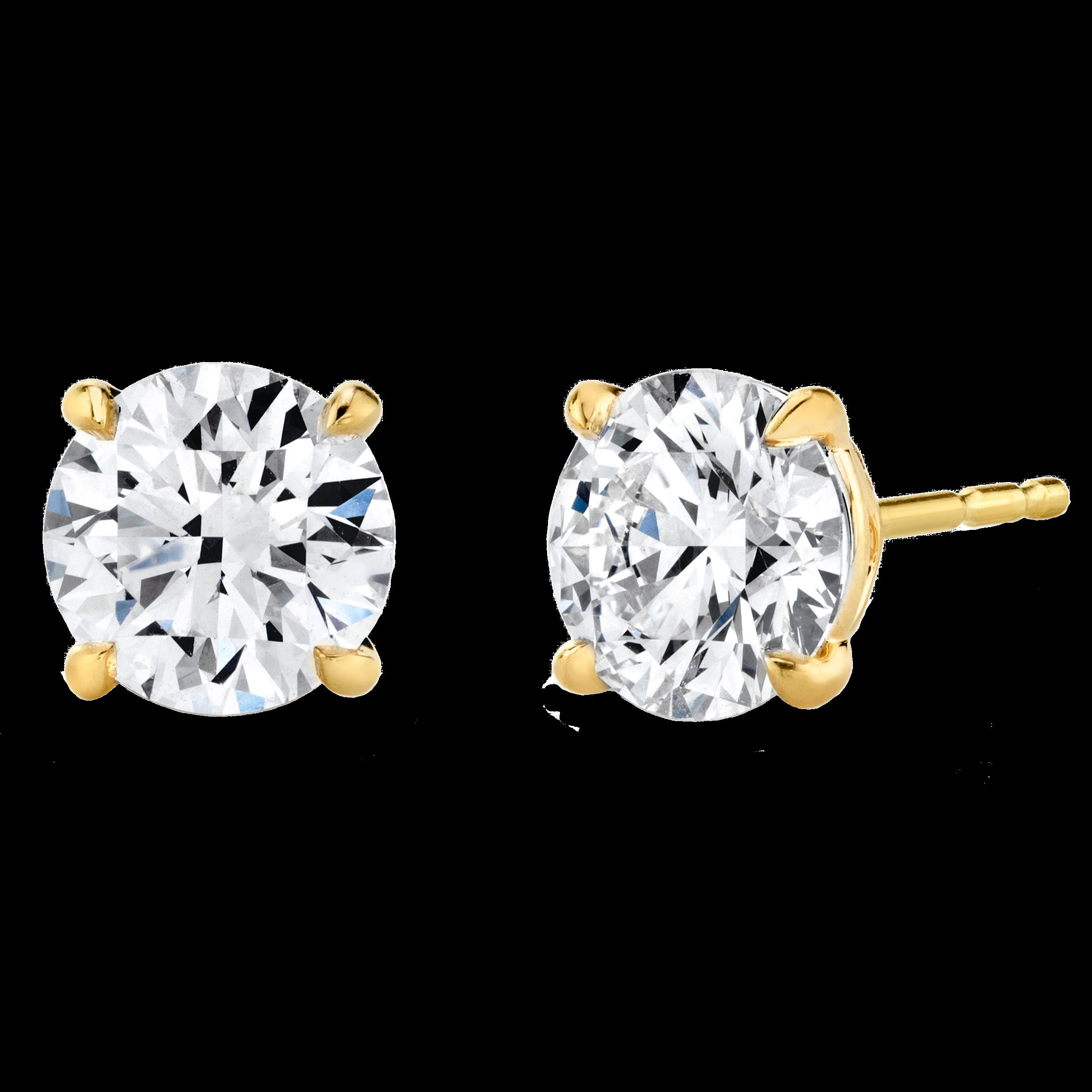 Solitaire Round Brilliant Diamond Studs