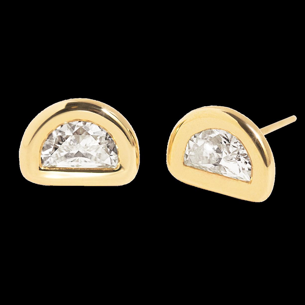 Toi / Moi Diamond Half Moon Studs