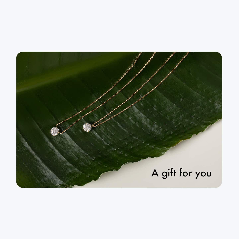 Closeup image of Vrai Gift Card