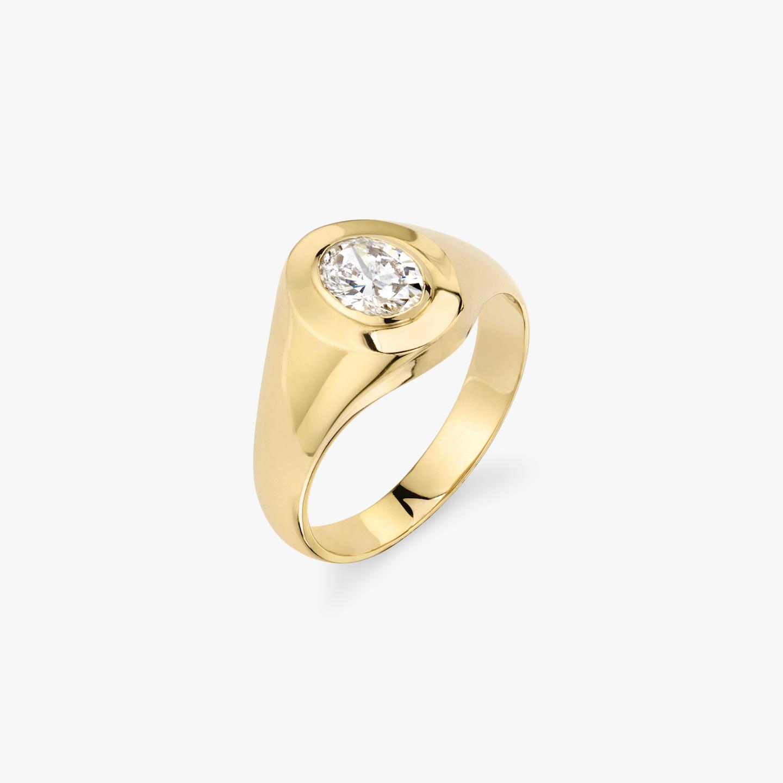 Closeup image of Diamond Signet Ring