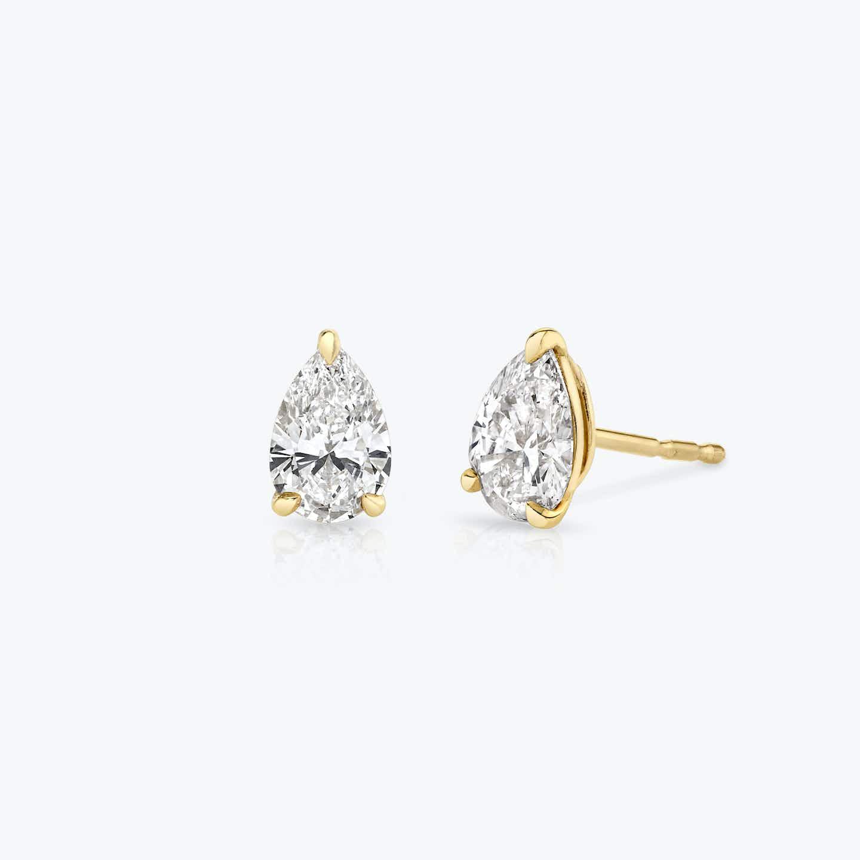 Closeup image of Solitaire Diamond Studs