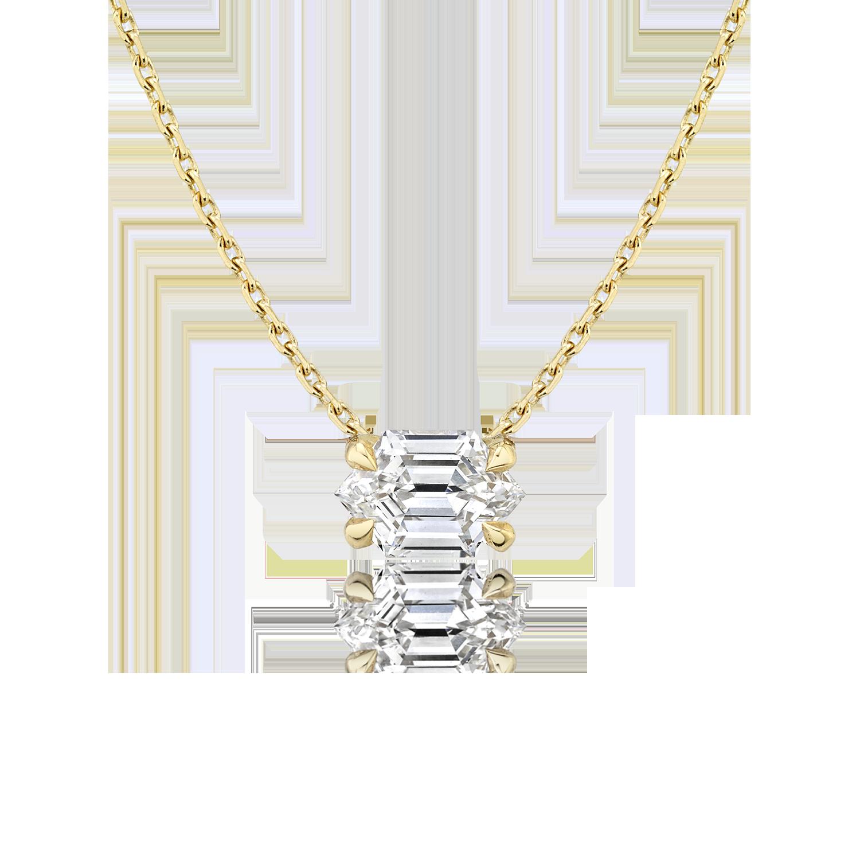 VRAI Long Hexagon Necklace