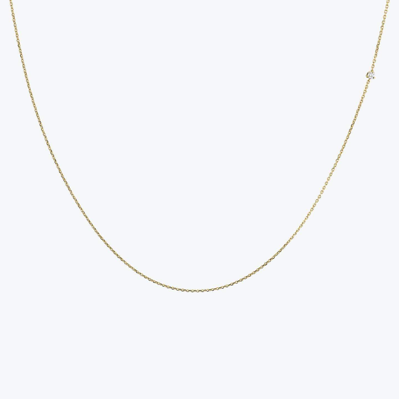Closeup image of Tiny Diamond Necklace