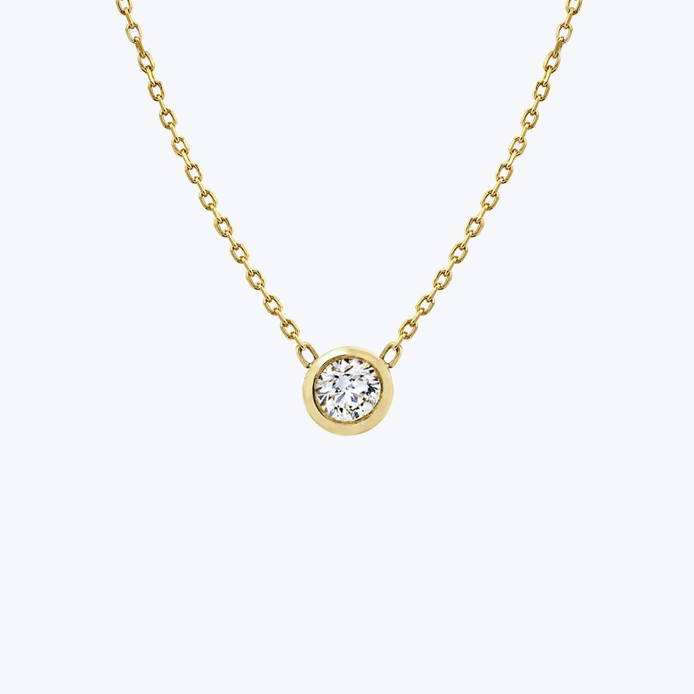 Closeup image of Diamond Bezel Necklace