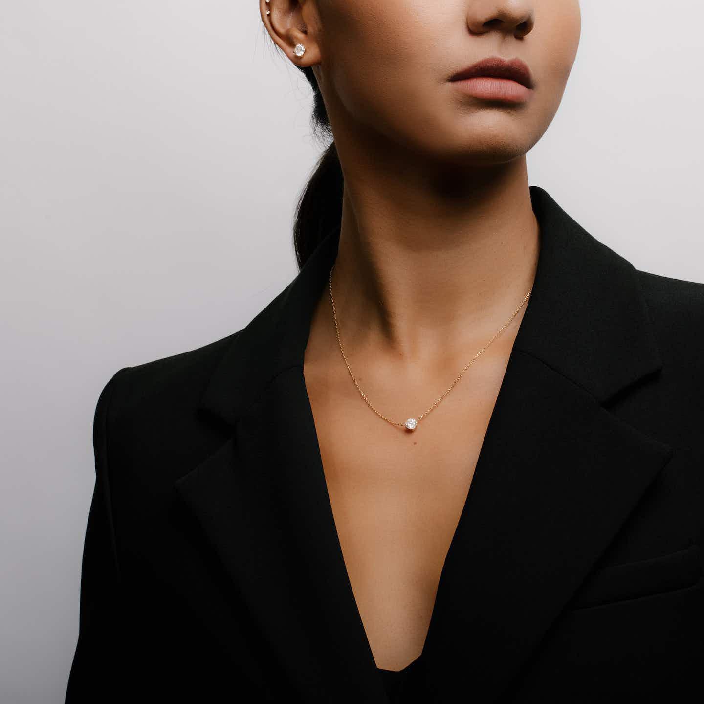 Closeup image of Iconic Diamond Necklace