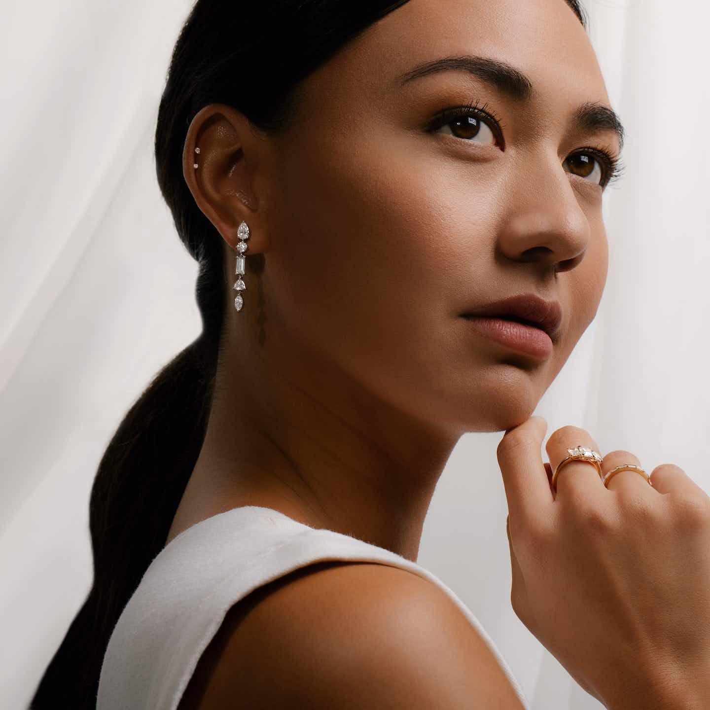 Closeup image of Mixed Drop Earrings