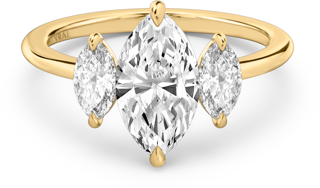 The Marquise Trio Ring