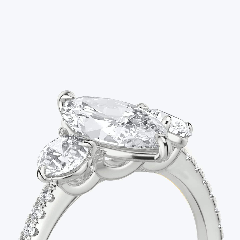 Closeup image of Three Stone Engagement Ring
