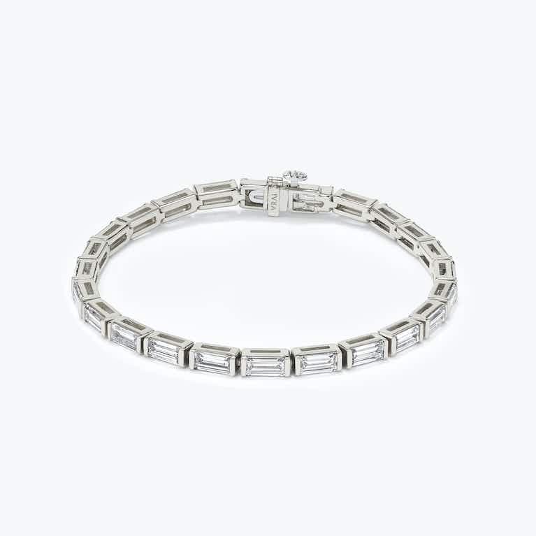 Closeup image of Baguette Tennis Bracelet