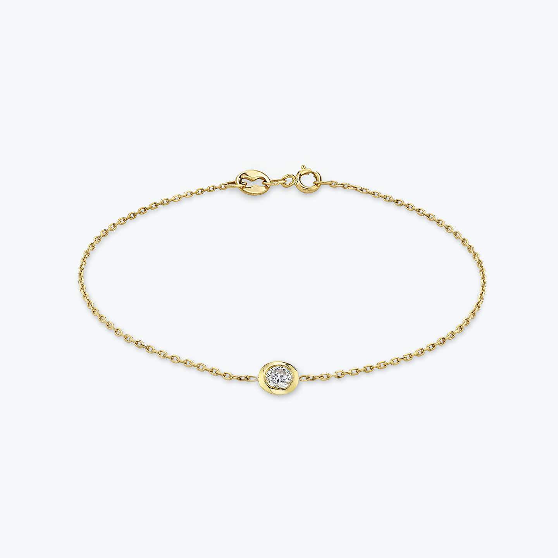 Closeup image of Diamond Bezel Bracelet