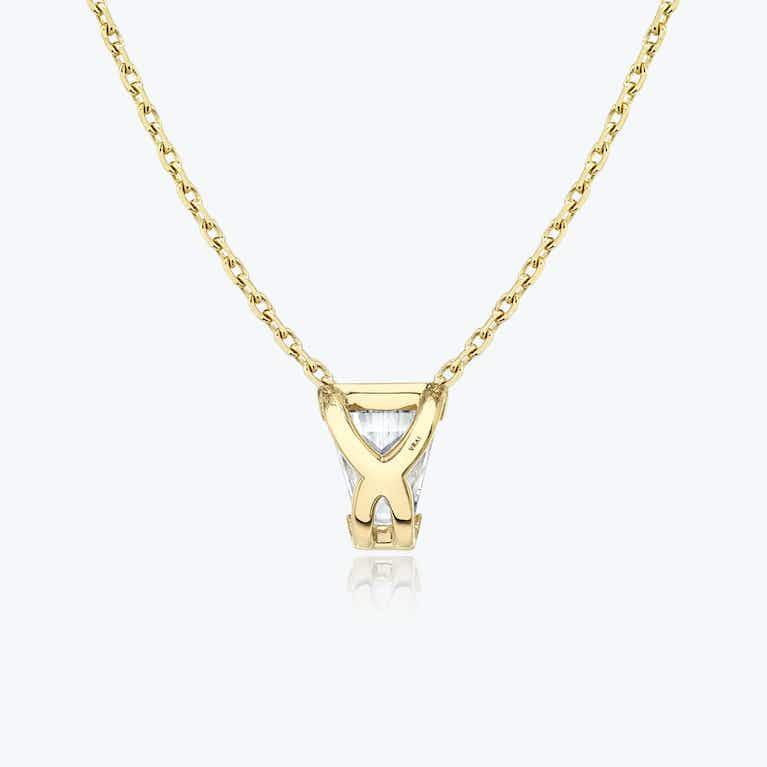 Closeup image of Keystone Semi-Bezel Necklace