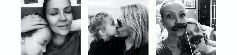 Tara Swennen and child