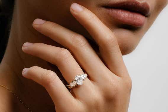 The New Three Stone Engagement Ring