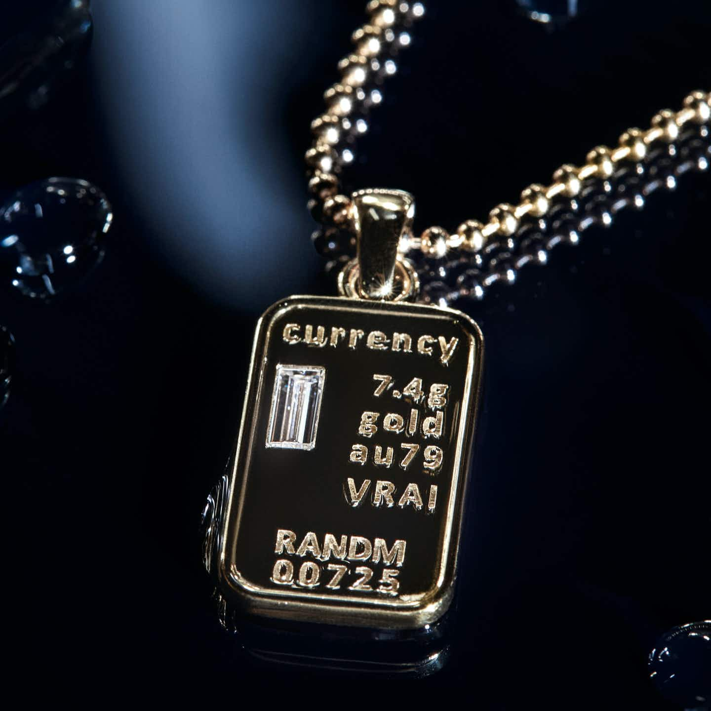 Closeup image of Currency Necklace