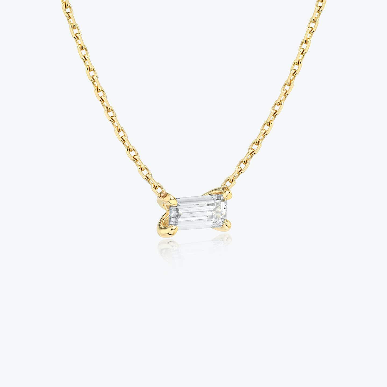 Closeup image of Baguette Necklace