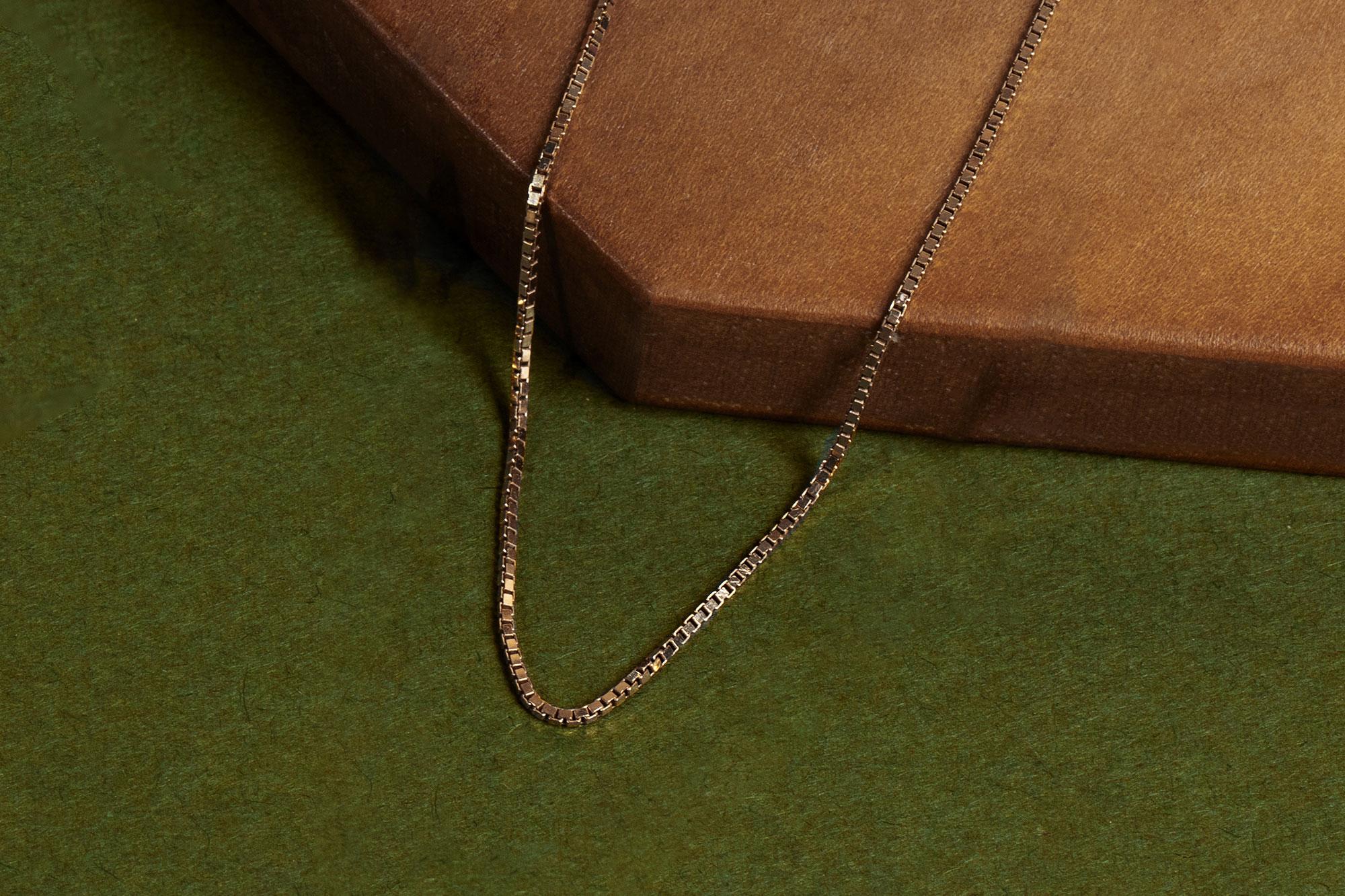 Silk Box Chain Necklace